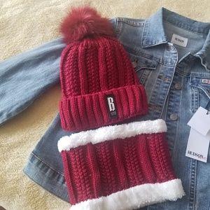 Accessories - Winter hat & neck warmer set - Red